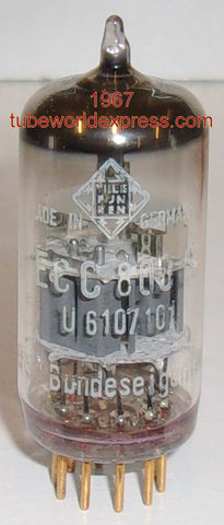 (!!!!) (Best Overall Single) ECC803S=12AX7 Telefunken Ulm Germany <> bottom low hours/like new condition 1967 reboxed (Gm=1600/1700) (1.0/1.2ma)