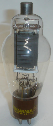 (DISPLAY TUBE) 811A SYLVANIA - tubes lights but is non-functional - a few glass chips inside tube