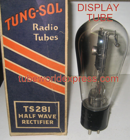 (DISPLAY TUBE) TS-281 Tungsol Balloon NOS engraved base 1930's (for display purposes only)