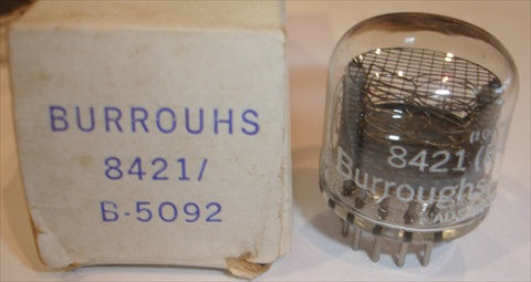 8421=B-5092 Burroughs Nixie NOS original boxes (0 in stock)