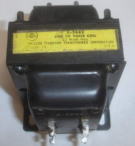 (!) Stancor A-3882 Line to Voice Coil transformer used