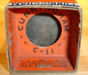 C-11=WD-11 Cunningham NOS bakelite base, glass not tipped, original orangle/blue Cunningham boxes 1930's (sold out)