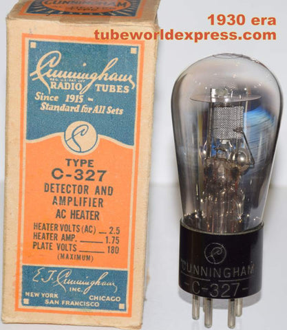 (!!!) (#1 27 Single) C-327 Cunningham Balloon NOS around 1930 (9.8ma) (High Ma and Gm)