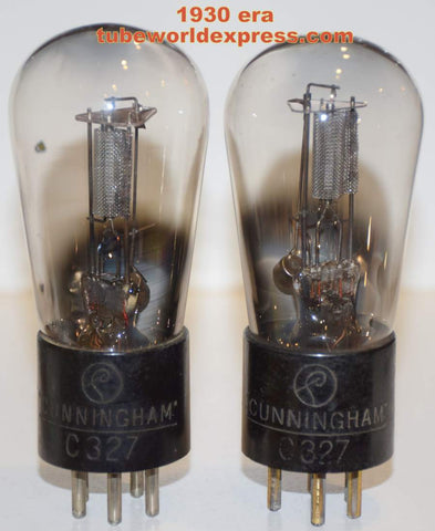 (!!!) (#1 27 Pair) C-327 Cunningham Balloon used/test like new around 1930 - mesh-plate - same internals (6.6ma and 7.2ma)