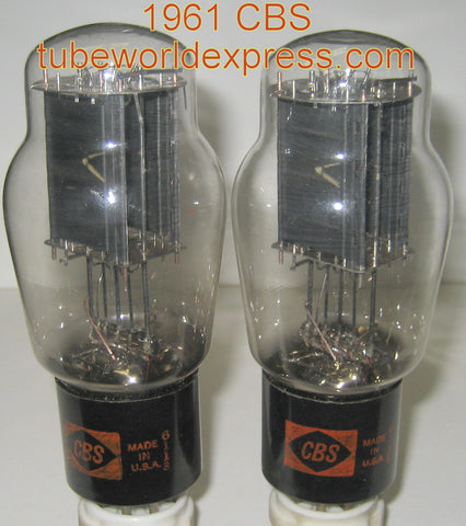 (!) (#4 6B4G PAIR) 6B4G CBS NOS 1961 same date codes, 1 tube has a few glass chips inside tube (80ma and 84ma) (BEST VALUE)
