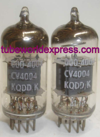 (!!!) (#2 CV4004 Mullard cryo-treated pair) CV4004=12AX7 Mullard Kuhl-Tube cryo NOS 1981 (1.2/1.4ma and 1.3/1.3ma)
