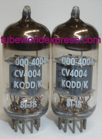 (!!!!) (#1 CV4004 Mullard cryo-treated Pair - Best Overall) CV4004=12AX7 Mullard Kuhl-Tube cryo NOS 1981 (1.5/1.7ma and 1.5/1.8ma) (strong Ma and Gm)