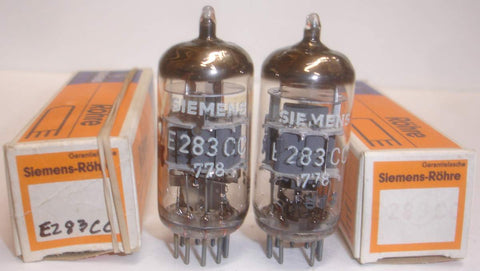 (!!) (#1 E283CC Pair) E283CC Siemens low hours/test like new 1977 1-2% matched