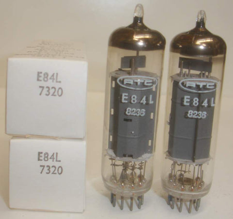 (!!) (~ Recommended Pair ~) E84L Siemens NOS 1977-1980 rebranded for Radiotechnique France (RTC) 1981-1982 (43.0ma and 43.5ma)