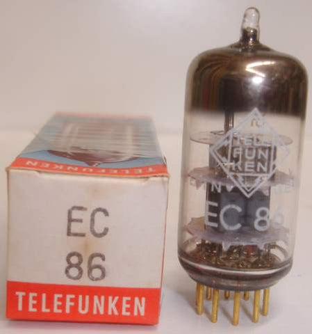(!!) (Best EC86) EC86 Telefunken Kuhl-Tube cryo-treated gold pins NOS 1964 (18.2ma) tested on Amplitrex (high Ma and Gm)