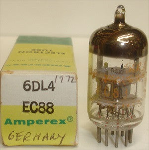 EC88=6DL4 Valvo branded Amperex Germany NOS 1972 (11.5ma)