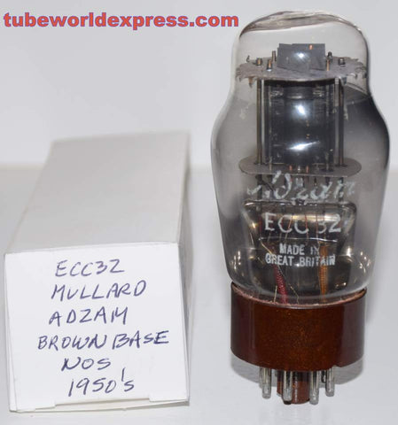 (!!!!) (~ Best Overall Sound ~) ECC32=CV181 Mullard branded ADZAM brown base black plates