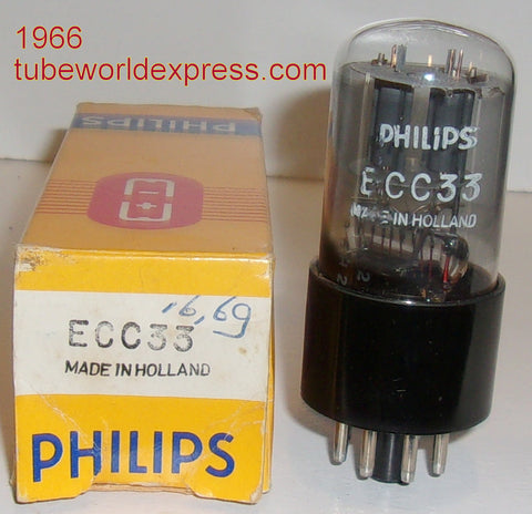 (!!!) (#1 ECC33 Best Overall) ECC33 Philips by Mullard gray plates
