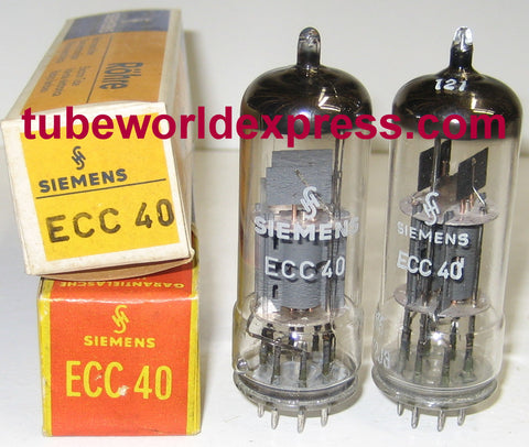 (!!) (#3 ECC40 Pair) ECC40 Siemens NOS made by La Radiotechnique, Chartres/France 1967-1972