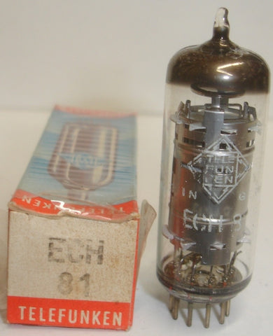 (!!!) (Best Sound) ECH81=6AJ8 Telefunken Germany <> bottom NOS 1960's (2 in stock)