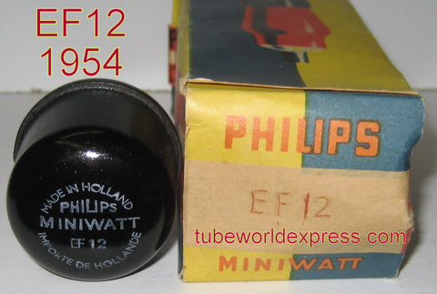 (!!) (#1 EF12) EF12 Philips Miniwatt Holland NOS 1954 (3.7ma)