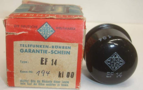 EF14 Telefunken NOS 1957 (13.4ma) Buy 2 receive 5% discount