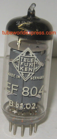 (!) EF804 Telefunken Germany <> bottom NOS made in Berlin 1955 (3.6ma) oldest single