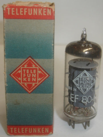 EF804 Telefunken NOS made in Berlin 1957 (3.5ma)