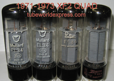 (!!!!) (50 more EL34 Mullard NOS in stock early March) EL34 Mullard NOS XF2 and XF3 series (matched QUADS and PAIRS will be listed)