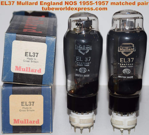 (sold) EL37 Mullard England NOS black plate 1955-1957 (83ma and 85.5ma)
