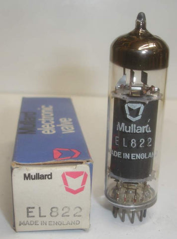 EL822 Mullard black plate NOS 1970's (25 in stock)