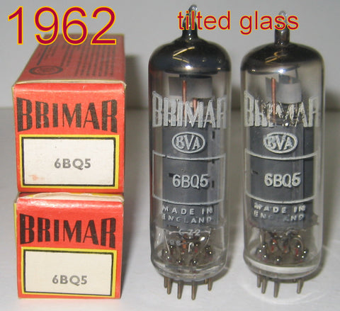 (!!!!) (Best Brimar Pair) EL84 Brimar England NOS 1962 with slightly tilted glass (51ma and 53ma) (see other picture in listing)