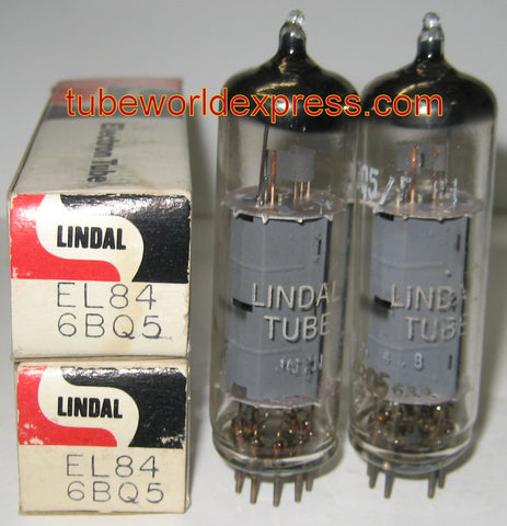 (!!!) (BEST VALUE PAIR) EL84 Hitachi Japan branded LINDAL low hours/like new 1978 (55.6ma and 56ma)