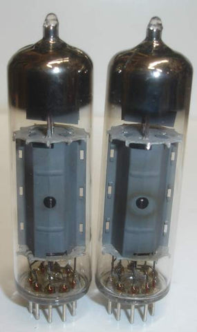 (!!!!) (Best Value Pair) EL84 Mullard UK NOS Kuhl-tube cryo 1960's no printing (39ma and 42ma)