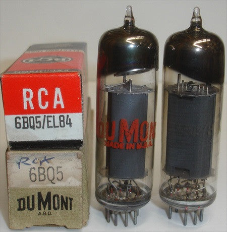(!) (#3 6BQ5 RCA Pair) 6BQ5 RCA NOS 1970's (36ma and 40ma) (matched on Amplitrex)