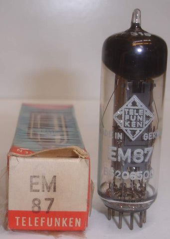 (!!) (Best EM87) EM87 Telefunken Germany <> bottom NOS 1966