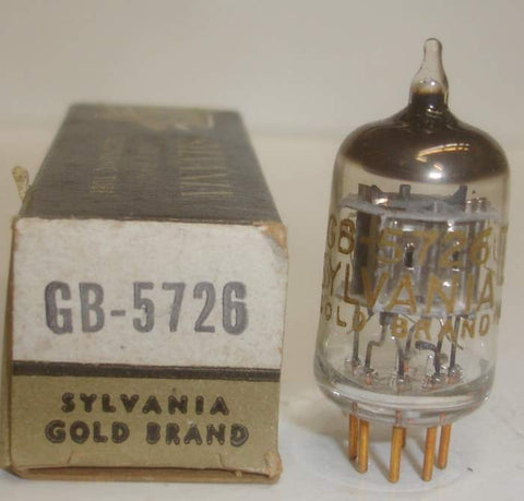 GB-5726=6AL5 Sylvania Gold Brand Gold Pins NOS (2 in stock)