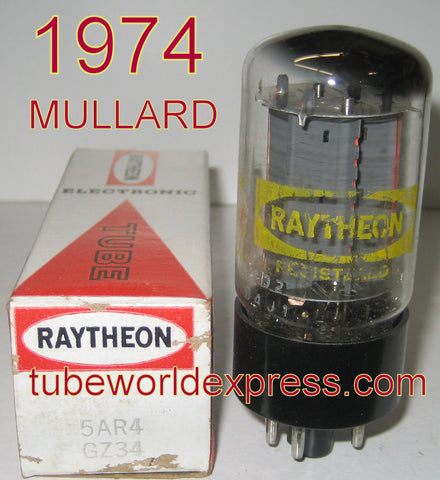 (!) (#1 BEST GZ34 VALUE) GZ34 Mullard branded Raytheon NOS 1974 (58/40 and 60/40)