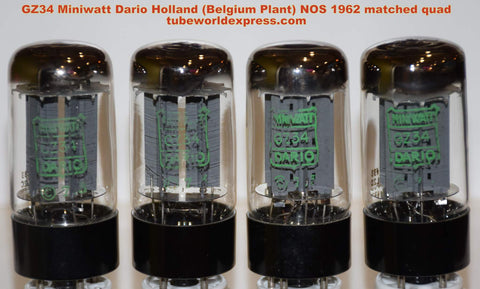 (!!!!) (#1 GZ34 Holland 1962 Quad) GZ34 Miniwatt Dario Holland NOS double