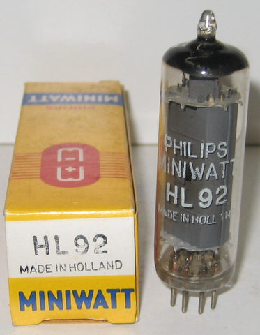 50C5=HL92 Philips Miniwatt by Mullard UK branded Holland NOS 1960's (60/45)