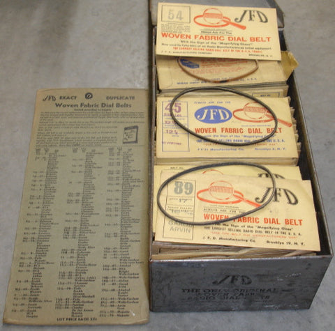 JFD Woven Fabric Dial Belts NOS for old radios (1 case)