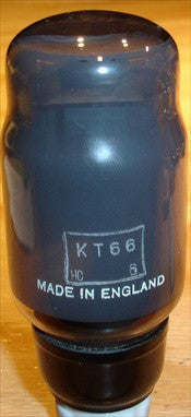 (!!!) (#1 KT66 SINGLE 1950's) KT66 Osram UK black base NOS 1950's (81ma)