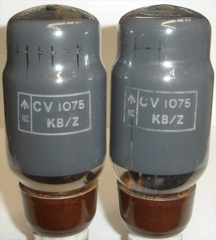 (!!) (#1 KT66 PAIR 1950's) CV1075=KT66 MO-Valve (GEC), Hammersmith England NOS 1956 (100ma and 98ma) matched on Amplitrex (highest Ma and Gm)