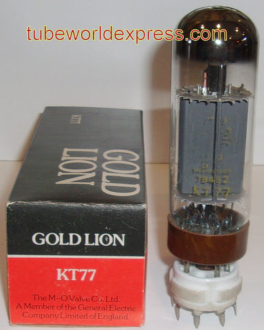 (!) (#2 KT77 Gold Lion single) KT77 Gold Lion brown base NOS with faded Gold Lion logo (7848=1978) (95ma) (tested on Amplitrex)