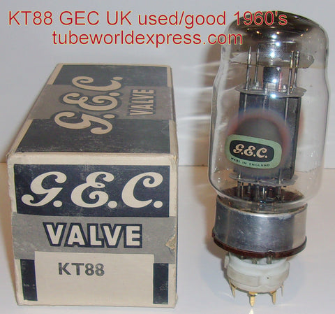 (!) KT88 GEC UK used/very strong 1960's (137ma)