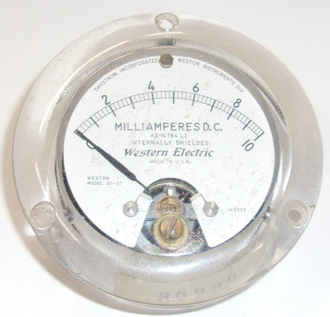 Western Electric KS-14784 (0-10ma DC) meter by Weston used/good
