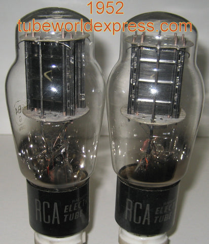 (!!!) (#1 6B4G Pair) 6B4G Sylvania rebranded RCA NOS 1952 separate plates (88.5ma and 91ma)