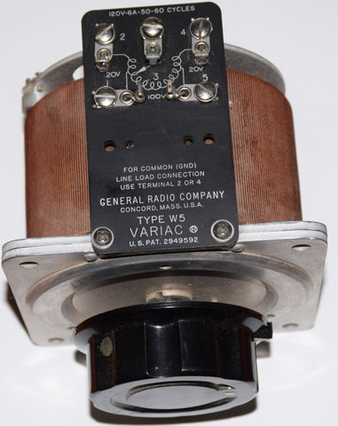 (!!) 120VAC / 6A Variac by General Radio Company Type W5 used/good condition works fine