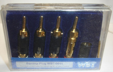 WBT-0644E high current banana plugs new in sealed box, for cables up to 7AWG  (set)
