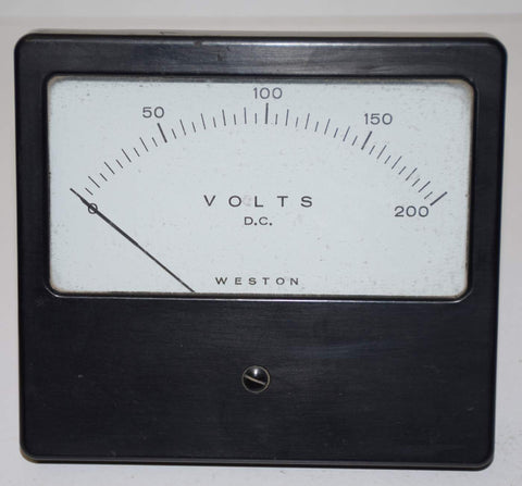 Weston DC voltage meter used/good: 0-200 volts DC