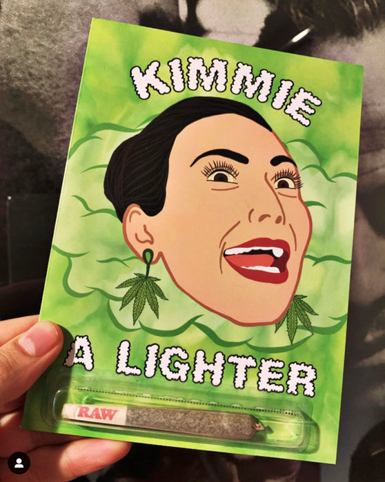 KIMMIE A LIGHTER GREETING CARD