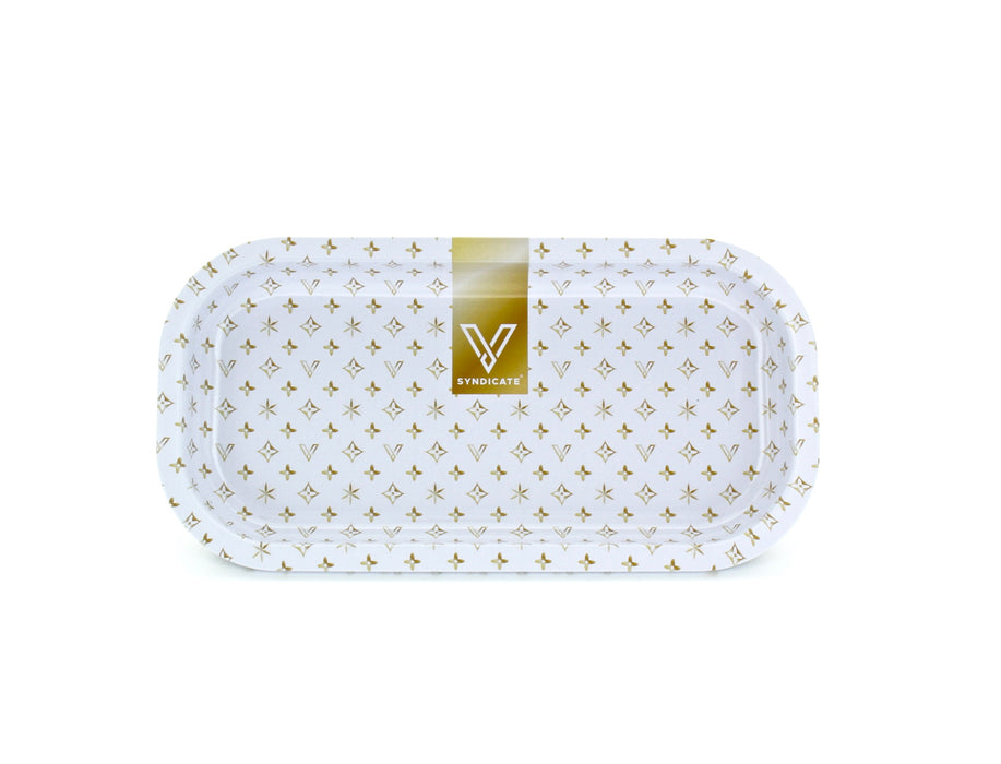 WHITE PARTY ROLLING TRAY