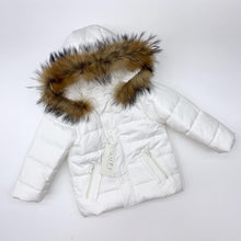 Load image into Gallery viewer, BUFI BOYS WINTER 2020 white hooded coat