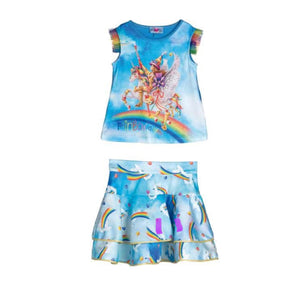 ROSALITA blue skirt set ATKINSON