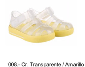 Igor clear with yellow sole and Velcro fastening 10245.